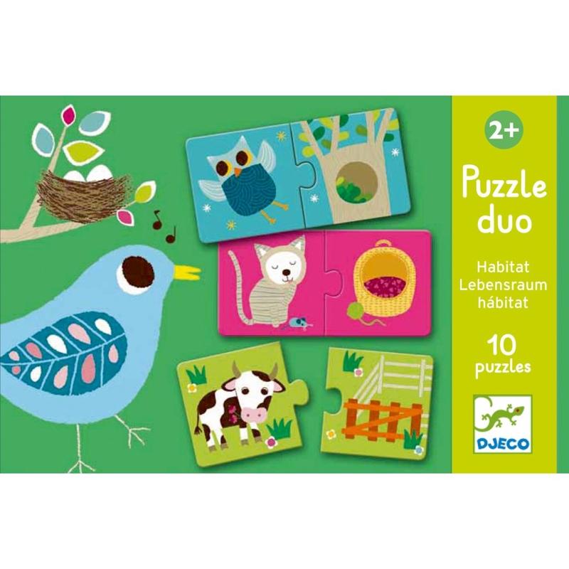 DJECO Puzzle duo Pelíšky,  V001829