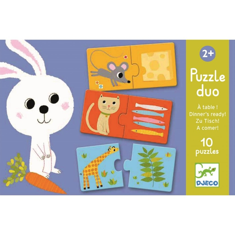 DJECO Duo Puzzle Čo bude dnes na obed?,  V001818