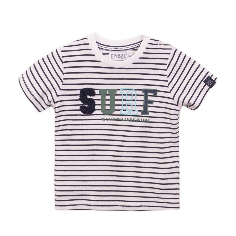 DIRKJE Tričko kr. rukáv 86 Navy+Stripe