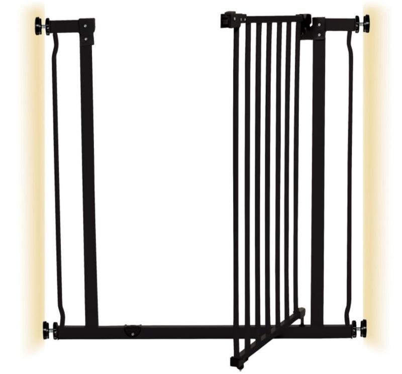 DREAMBABY Zábrana Liberty bezpečnostní extra-vysoká 75-81 cm černá