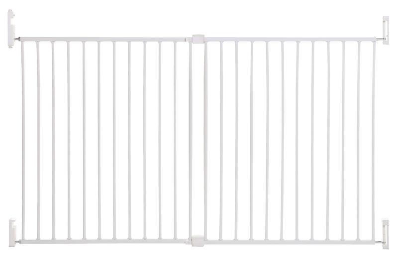DREAMBABY Zábrana bezpečnostní Broadway 2-panelová extra široká 76-134,5 cm bílá