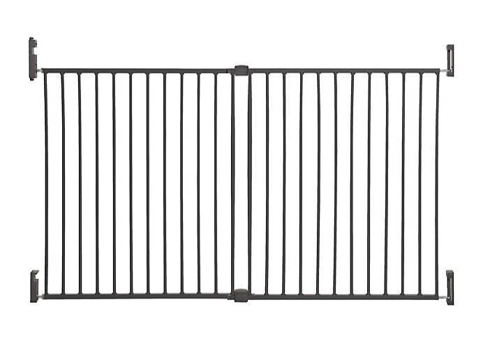 DREAMBABY Zábrana bezpečnostní Broadway 2-panelová extra široká 76-134,5 cm šedá