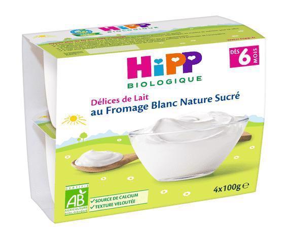 Dezert BIO mliečny tvarohový  4x100g Hipp