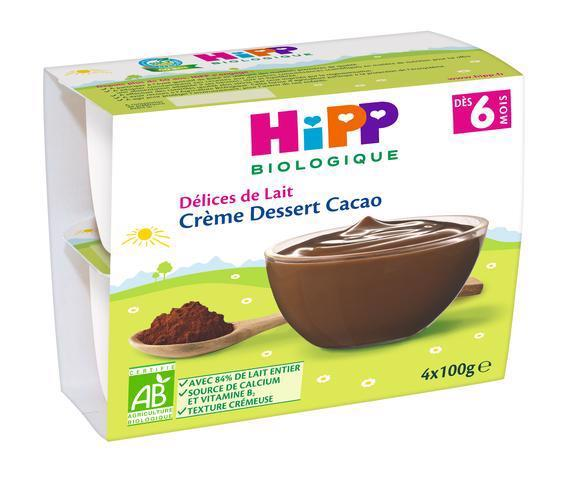 Dezert BIO mliečny kakaový 4x100g Hipp