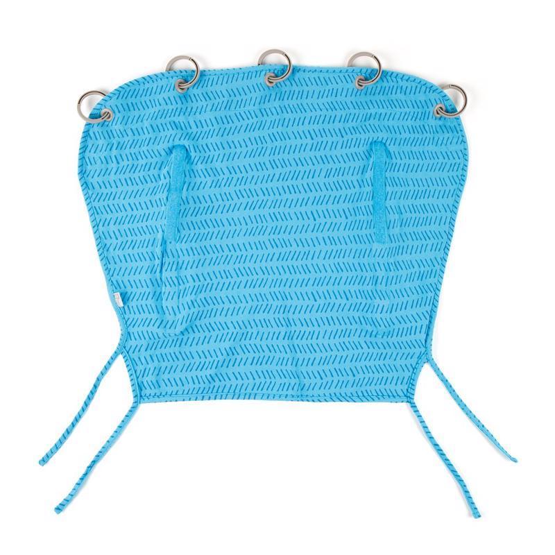 Clona slnečná do kočíka modrá potlač UNI