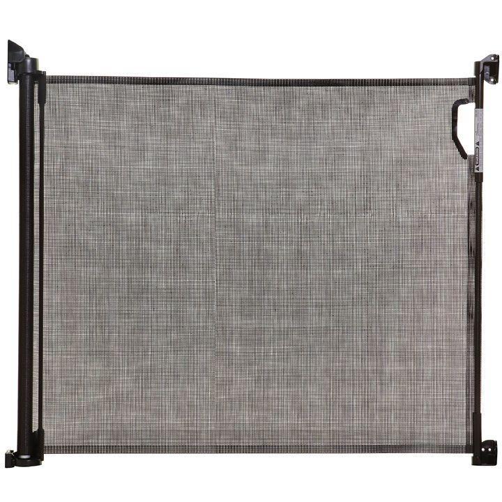 DREAMBABY Zábrana bezpečnostní zatahovací 140 cm šedá