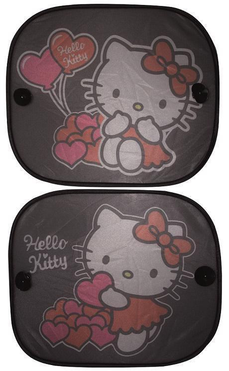 Tienidlo na okno auta 2 ks Hello Kitty,  V001438