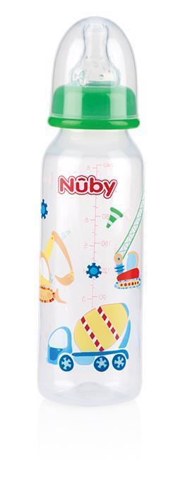 Fľaša dojčenská 1-2-3 prietok 240ml, 0-12m+
