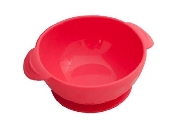 NUBY Miska silikónová s prísavkou 300 ml, 6 m+, červená