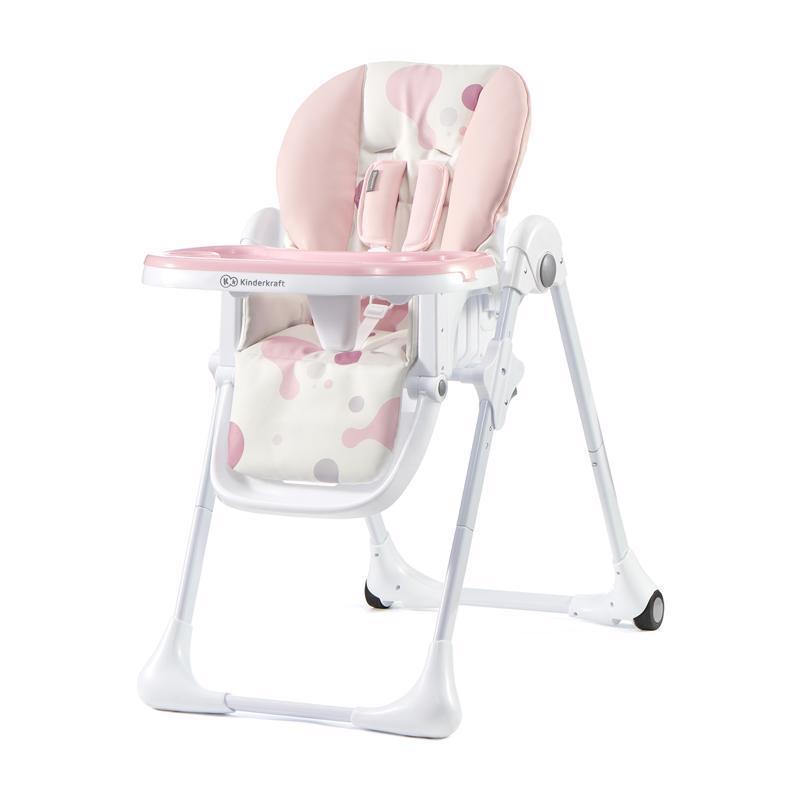 Stolička jedálenská YUMMY pink Kinderkraft
