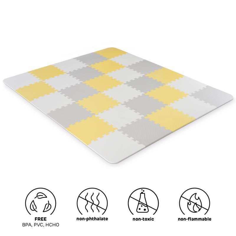 Podložka penová puzzle Luno 150x180 cm Yellow Kinderkraft
