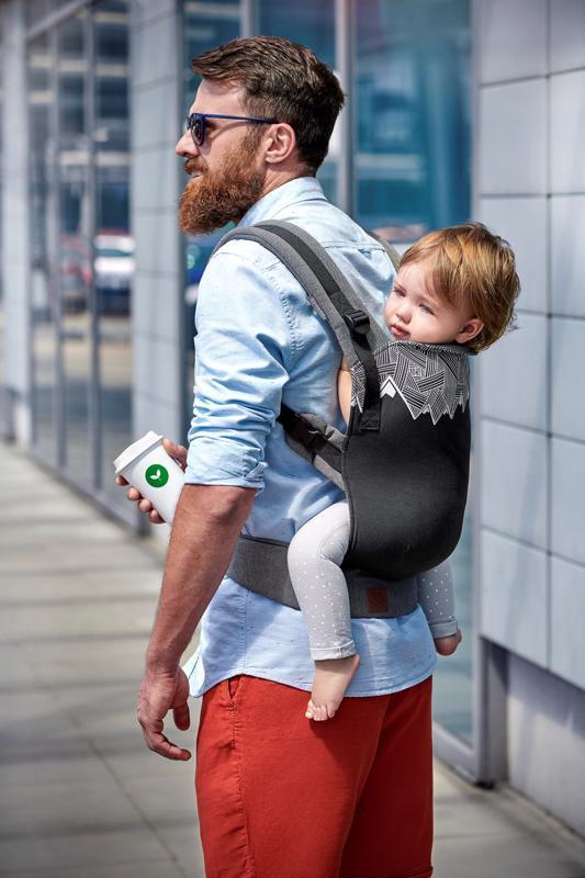 KINDERKRAFT Nosič detský Milo Black