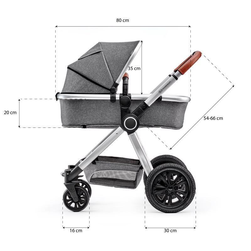 KINDERKRAFT Kočík kombinovaný Veo black/grey 3v1