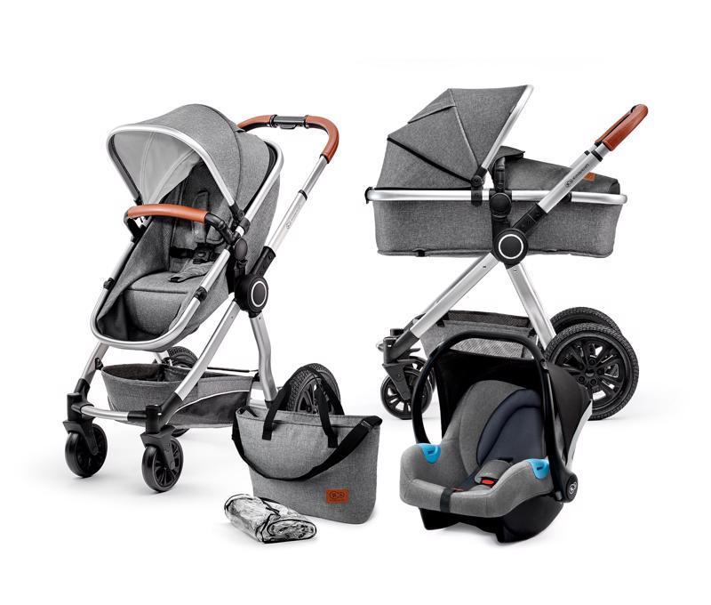 Kočík kombinovaný Veo grey 3v1 Kinderkraft 2019