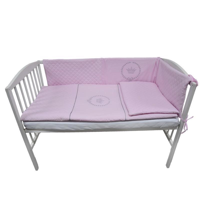 Bielizeň posteľná 3-dielna ružová