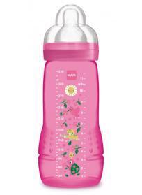 MAM ľahev Baby Bottle Paradise Island 330 ml, 4+ m ružová