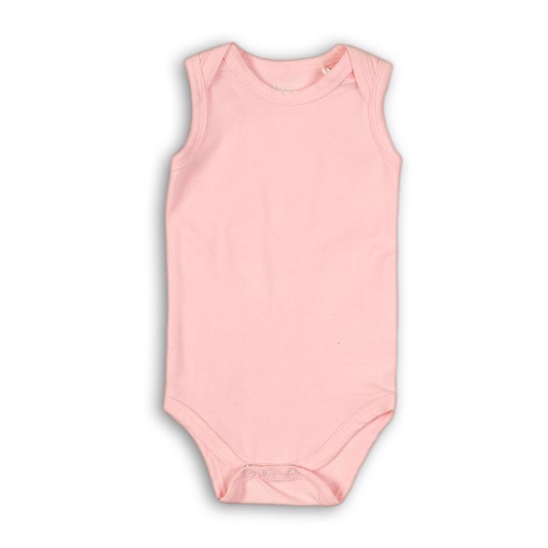 Body bez rukávov Basics 74/80 Light pink