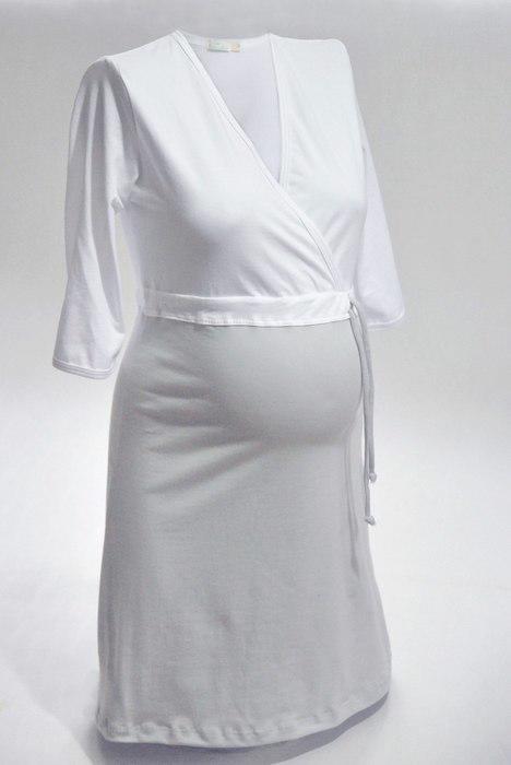 Košeľa nočná NIKA INTIMA 038 strieborno-biela S
