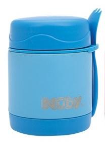 NUBY Termoska nerezová s lyžičko/vidličkou 325ml 24m+ modrá,  V002090