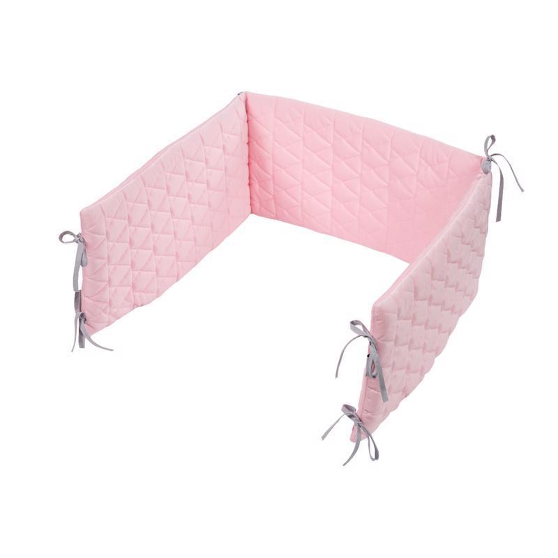 KLUPS Mantinel ochranný do postieľky 180x30 cm Velvet Pink