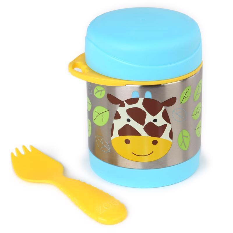 Zoo Termoska na jedlo s lyžičko/vidličkou Žirafa 325ml, 12m+