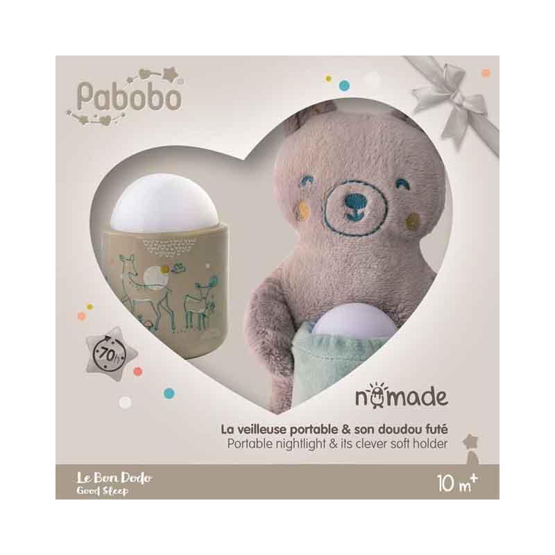 PABOBO Automatické nočné svetielko Nomade medvedík Gift Box
