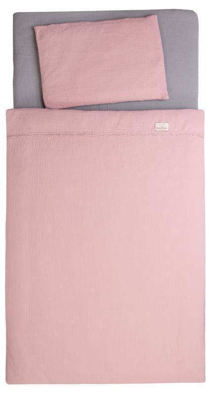 Bielizeň posteľná Muslin Staroružová 3-dielna
