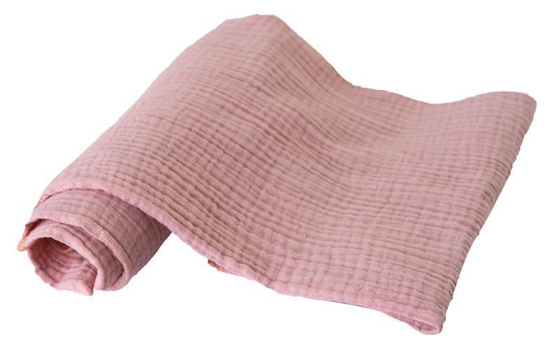Plienka bavlnená Muslin 3ks Staroružová 70x80 cm