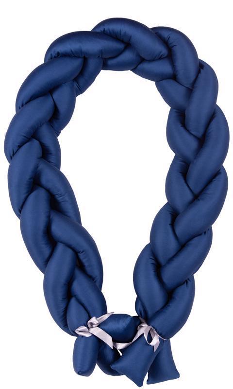Mantinel do postieľky Vrkoč 200cm modrá