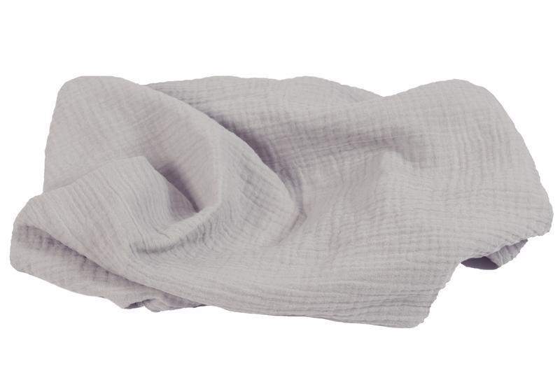 BABYMATEX Prikrývka bavlnená Muslin Svetlo Šedá 120x80 cm