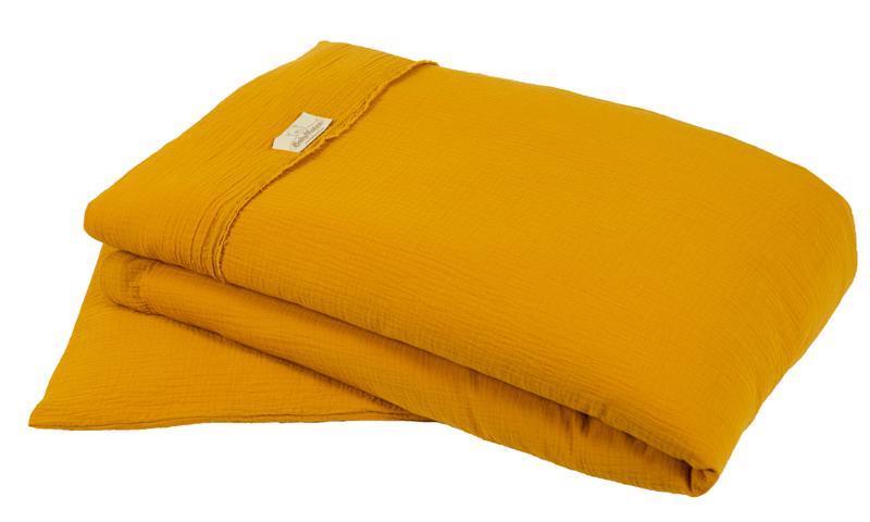 Bielizeň posteľná Muslin Horčicová 2-dielna
