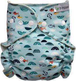 T-TOMI Plena kalhotková - přebalovací set patentky, green sea