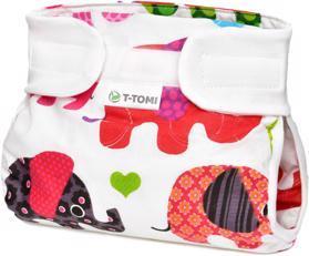 T-TOMI Kalhotky abdukční ortopedické - suchý zip, pink elephants (3-6 kg)