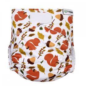 T-TOMI Plena kalhotková AIO - přebalovací set suchý zip, squirells