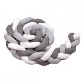 T-TOMI Mantinel pletený 180 cm, white/grey/anthracite