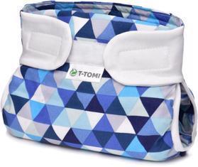 T-TOMI Kalhotky abdukční ortopedické - patentky, blue triangles (3-6 kg)