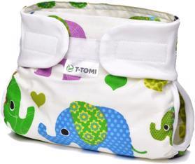 T-TOMI Kalhotky abdukční ortopedické - patentky, green elephants (3-6 kg)