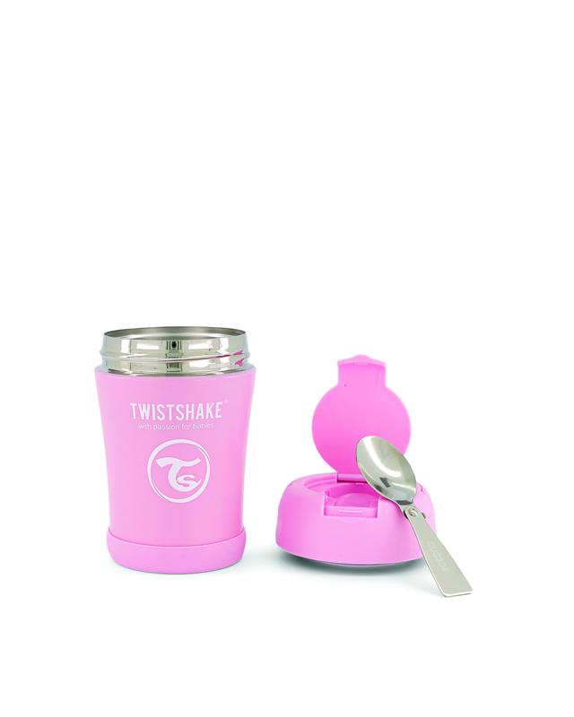 TWISTSHAKE Termoska na jedlo 350 ml pastelovo ružová,  V001619
