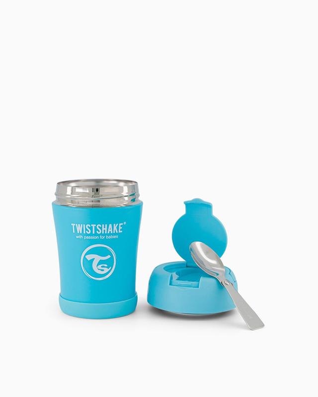 TWISTSHAKE Termoska na jedlo 350 ml pastelovo modrá,  V001619
