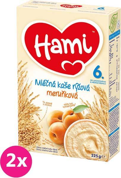 2x HAMI Ryžová s marhuľami (225 g) - mliečna kaša