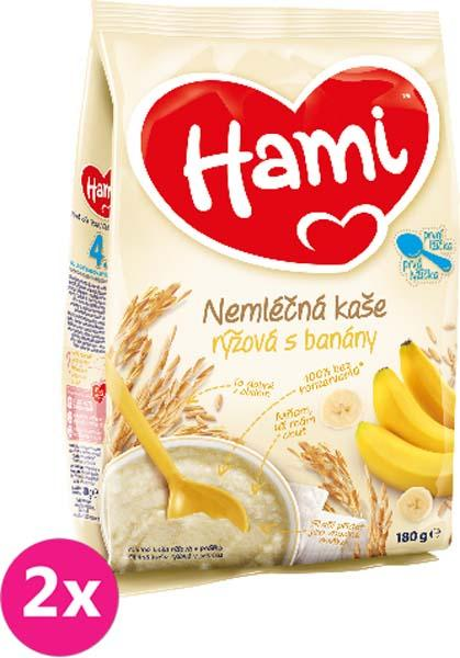 2x HAMI Kaša banánová (180 g) - nemliečna kaša
