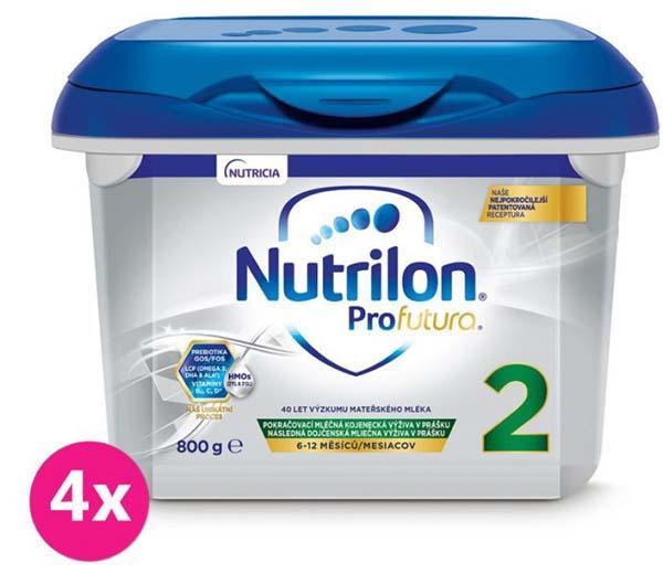 4 x NUTRILON 2 profutura pokračovacie dojčenské mlieko 800 g, 6+
