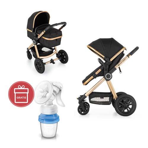 Kočík kombinovaný 3v1 Grand II Golden Ebony Petite&Mars + Avent odsávačka mater.mlieka