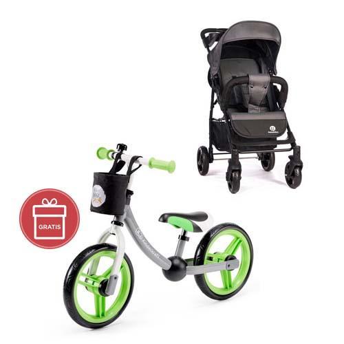 Kočík športový Easy Carbon Grey 2020 Petite&Mars + Odrážadlo 2way Next Green/Gray