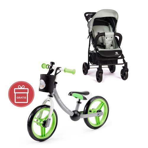 Kočík športový Easy Iron Green 2020 Petite&Mars + Odrážadlo 2way Next Green/Gray