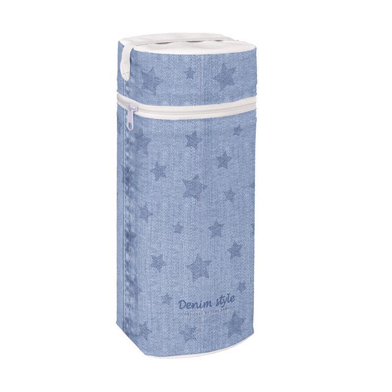 Termoobal na dojčenskú fľašu Jumbo Denim Style Stars blue Ceba