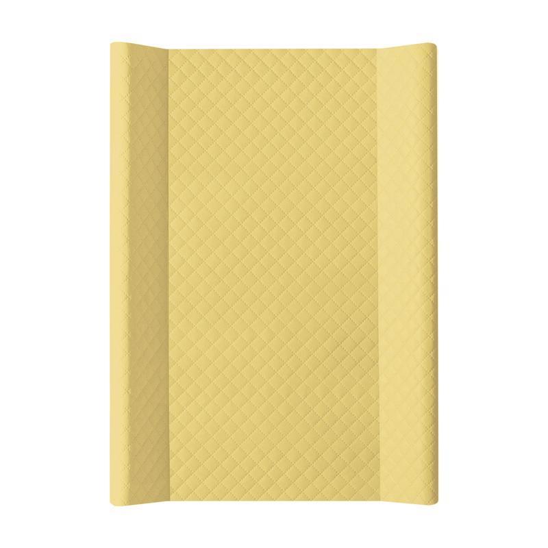 CEBA Podložka prebaľovacia mäkká 2hranná 70 x 50 cm CARO Mustard Ceba