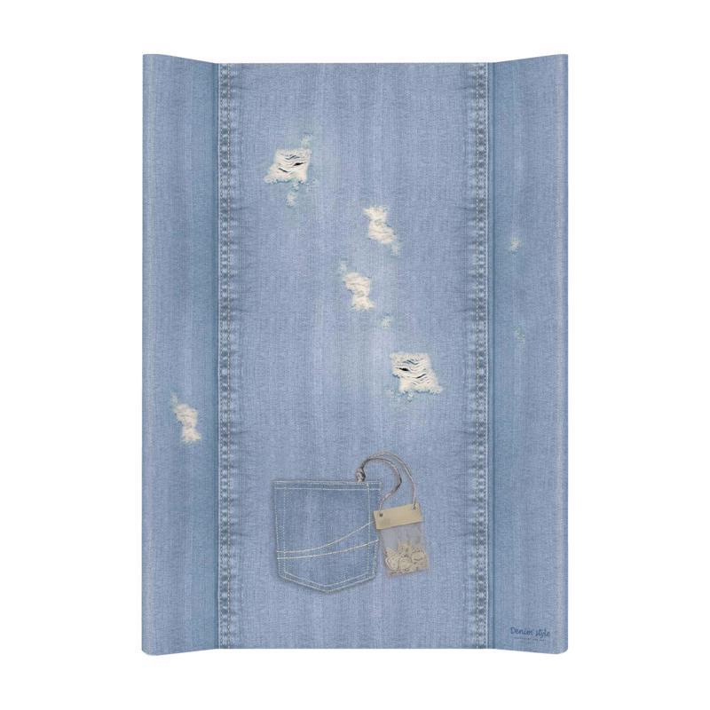 CEBA Podložka přebalovací měkká 2-hranná 70x50 cm Denim Style Shabby blue Ceba