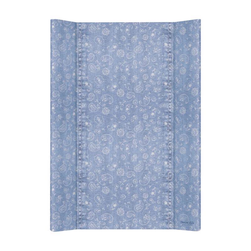 CEBA Podložka přebalovací měkká 2-hranná 70x50 cm Denim Style Boho blue Ceba