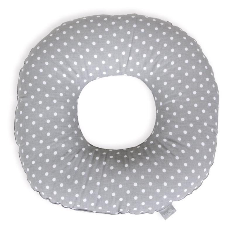 CEBA Vankúš popôrodný kruh Bodky bielo-šedé